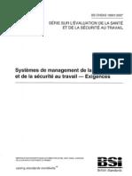 Ohsas 18001 v2007 Francais