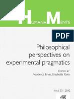 Humana_Mente 23 On Experimental Pragmatics