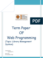 Term Paper of Web