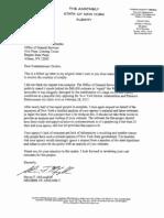 McLaughlin.4.26.13.Letter to Commissioner Destito