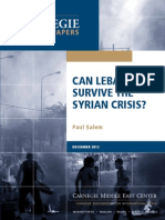 Can Lebanon Survive the Syrian Crisis?