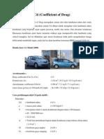 Cara Perhitungan Nilai CD Pada Mobil