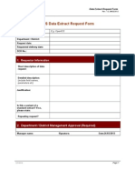 Data Extract Request Form