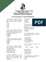 Lista de exercicios- FUNÇÕES INORGANICAS