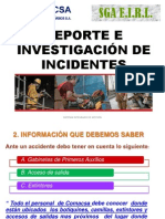 Reporte de Incidentes SST