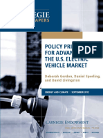 Policy Priorities for Advancing the U.S. Electric Vehicle Market