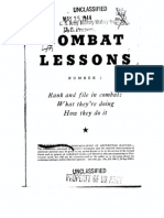 Combat Lessons No. 1, War Department Pamphlet, 1944