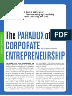 Paradox of Corporate Entrepreneurship