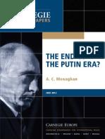 The End of the Putin Era?