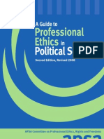 Professional Ethics inProfessional Ethics in Political Science Political Science