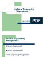 Principles of Engineering Management