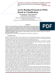 Design Issues for Routing Protocols in WSNs Based on Classification