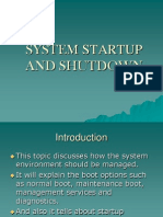System Startup and Shutdown
