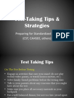 cst test-taking strategies math sci