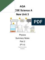 AQAScience A Unit 3 P1.4 notes