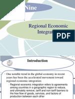 Regional Economic Integration