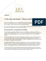 Thoughts on Gold - What an Awful Week Gevers Wealth Management, LLC April 2013