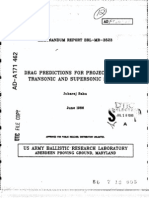 Drag Predictions for Projectiles...