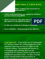 Contract Labour(Regulation & Abolition Act)