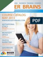 Bigger Brains Course Catalog May 2013b