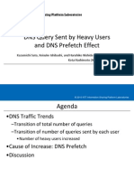 DNS Query Sent by Heavy Users and DNS Prefetch Effect
