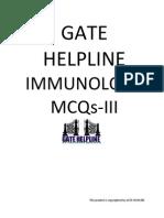 Immunology Mcqs-III (Gate Helpline)