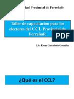 capacitación para los electores del CCL