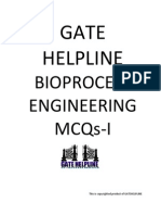 GATE HELPLINE Bioprocess Engineering MCQ I