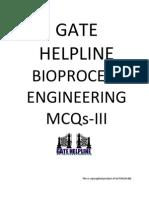GATE HELPLINE Bioprocess Engineering MCQ III