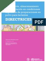 Directrices para la preparación de Formulas Lacteas.pdf