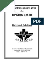 Solution BPKIHS Model Exam Set-III 2069-11-19