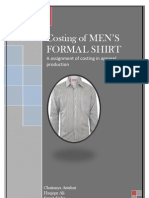 costing of men's formal shirt