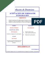 ACEPTACIÓN DE NORMAS DE INTEGRACIÓN