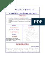 AUTOEVALUACIÓN DE GRUPOS