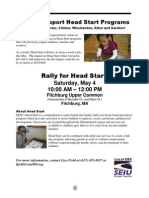 Rally to Support Head Start Programs