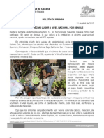 11/04/13 Germán Tenorio Vasconcelos OAXACA EN DÉCIMO LUGAR NACIONAL POR DENGUE, SSO