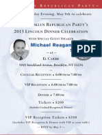 2013 Brooklyn Lincoln Dinner Invitation