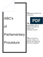 Abcs of Parlimentary Procedures