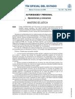 Convocatoria Concurso Traslados (BOE 31-3-09)