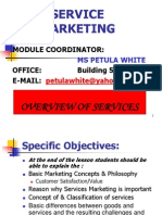Service Marketing - Overview of Services