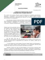 17/04/13 DIRECTORES DE 36 HOSPITALES DE LOS SSO SE REÚNEN PARA OPTIMIZAR SERVICIOS