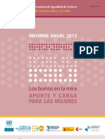 Datos 2012 Situacion Mujeres America