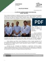 22/04/13 Germán Tenorio Vasconcelos nuevos Jefes en Jurisdicciones Sanitarias Del Istmo y Mixteca