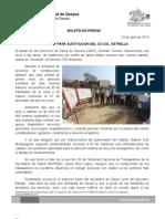 23/04/13 Germán Tenorio Vasconcelos CASI 20 MDP PARA SUSTITUCIÓN DE CS DE LA COL ESTRELLA