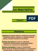 Curs 2 - Statistica descriptiva