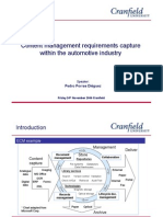 Content Management Requirements Research in the Automotive Industry