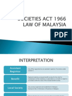 Societies Act 1966