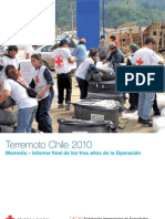 Terremoto Chile 2010 Memoria – Informe final de la Cruz Roja Chilena