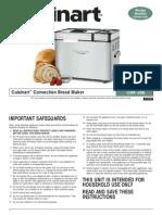 Cuisinart Bread Maker Manual