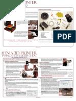 Afinia 3D Printer Quick Start Guide11